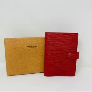 Authentic Louis Vuitton Epi Red Agenda Pm wallet